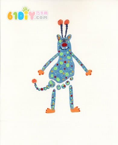 Cute and fun creative footprints - monsters