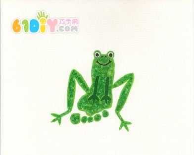 Cute and interesting creative footprints - frog