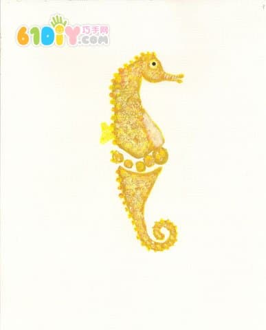 Cute and interesting creative footprints - hippocampus