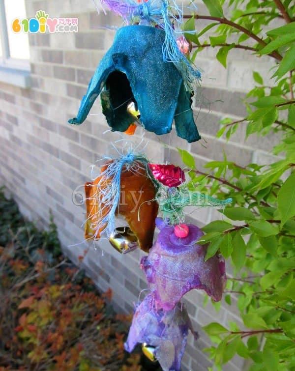 Turn waste into treasure handmade - egg box making wind chime ornaments