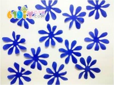 Paper flower production diagram