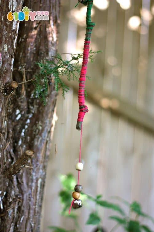 Twig wind chime DIY production