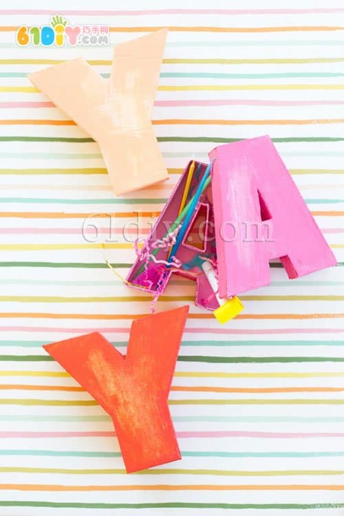 Cardboard making three-dimensional letters