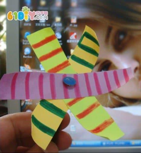 Handmade paper windmill