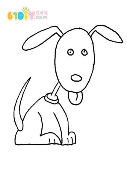 Cartoon puppy coloring chart