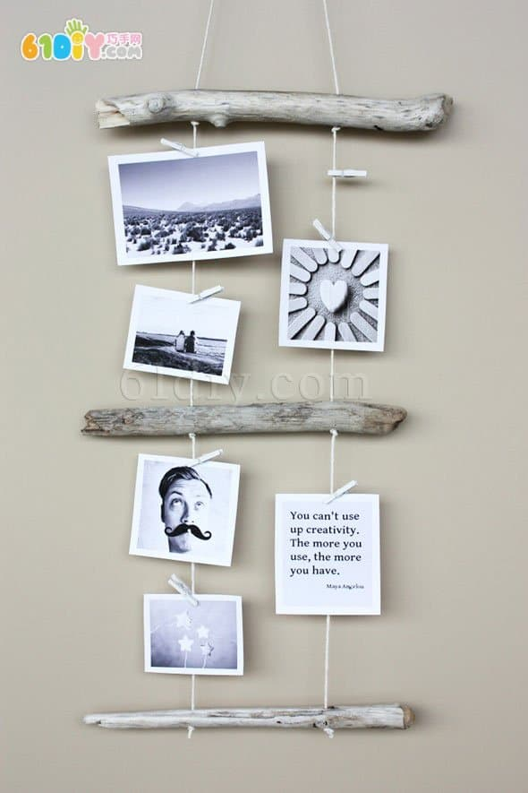 Branches handmade photo ornaments