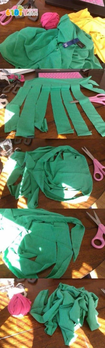 Old clothes making mat