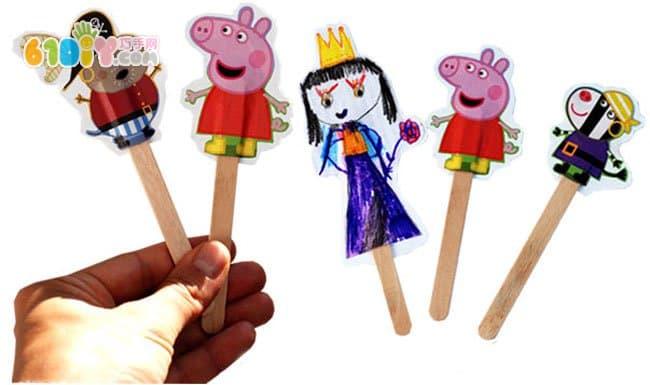 Ice cream stick DIY game hand puppet