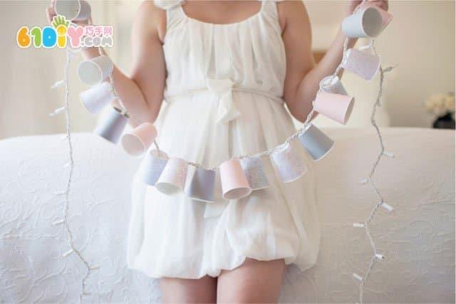 DIY paper cup lantern string