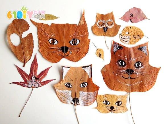 Handmade of leaves