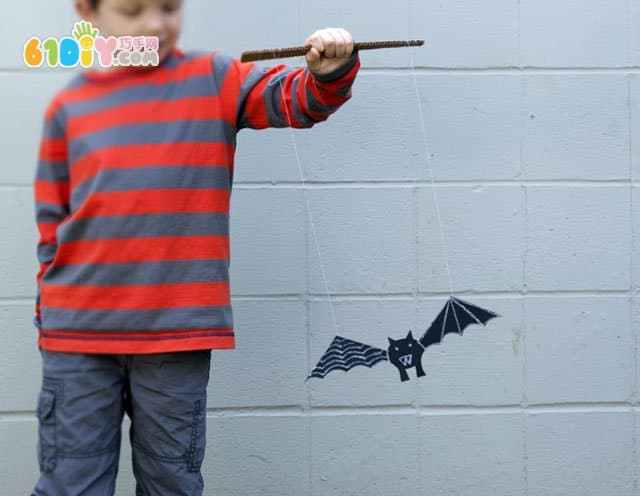 Making bat toys for Halloween