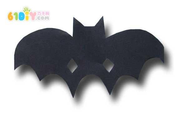 Children's handmade DIY Halloween bat mask