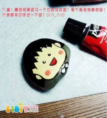 Stone pellets doodle handmade