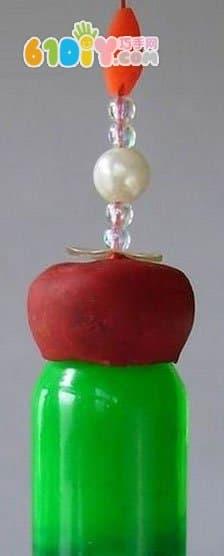Turn waste into treasure small glass bottle DIY rainbow wind chime