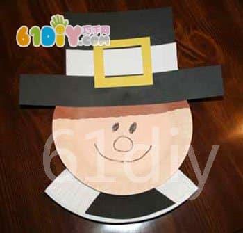 Children's Tray Handmade - Thanksgiving Pilgrim
