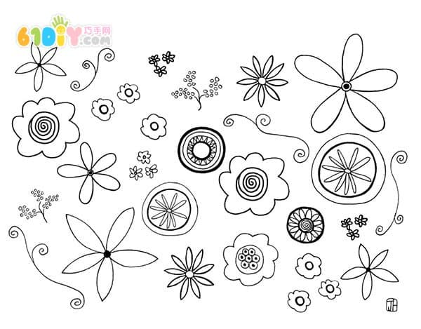 Flower coloring map