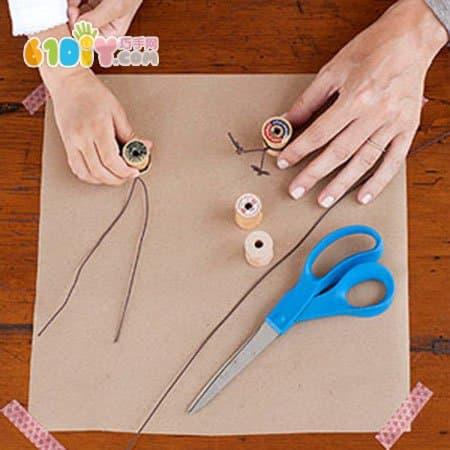 Children's DIY three-dimensional turkey handmade