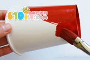 Cute paper cup turkey basket