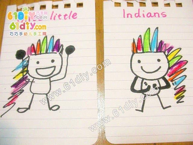 Nice cute Indian villain doodle