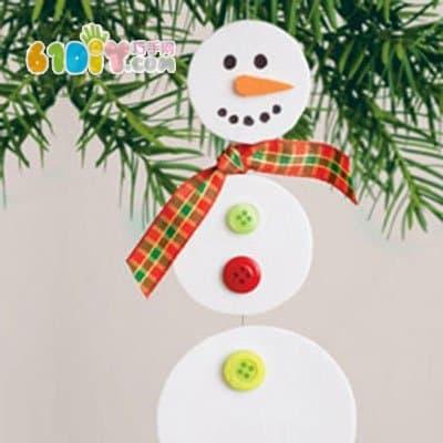 Round handmade snowman ornaments