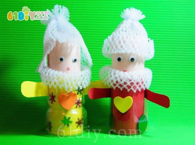 Foam drink bottle handmade cute doll
