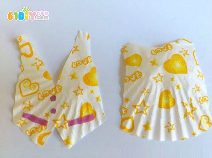 Cake paper DIY making doll clothes