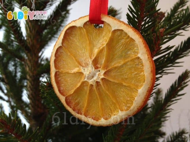 Orange handmade christmas ornaments