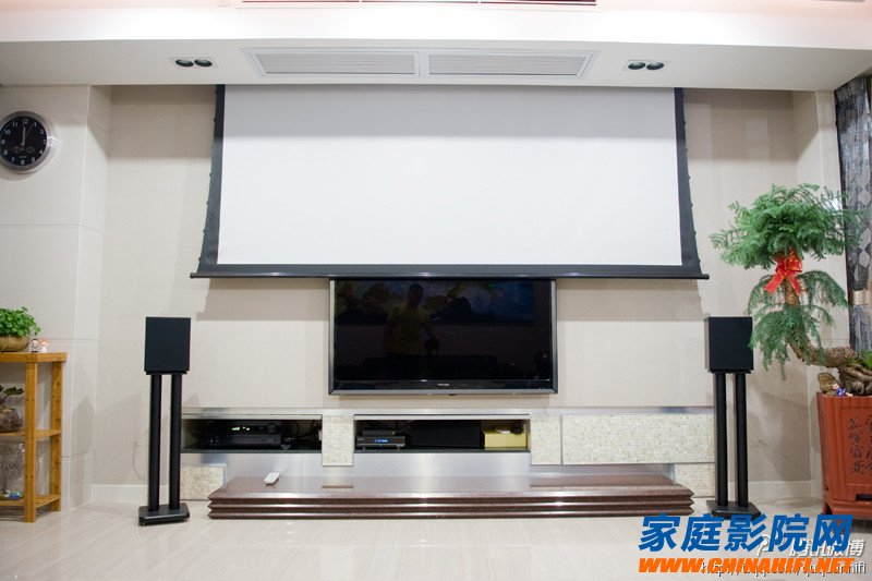 Home theater audio equipment placement and wiring