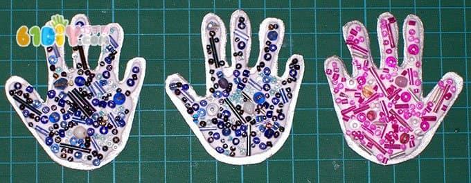 New Year DIY making cute little hand greeting card