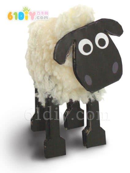 Kawaii's wool ball lambs DIY production