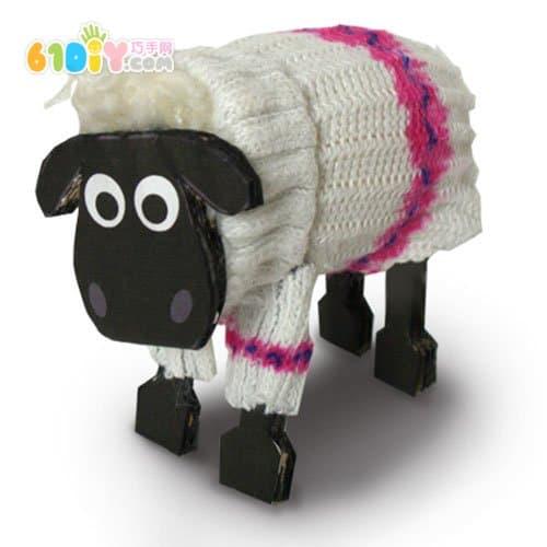 Socks wool ball making lamb