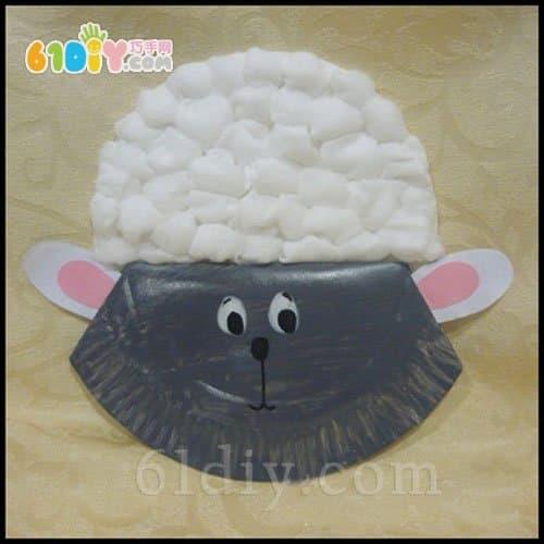 Children's DIY paper tray lamb