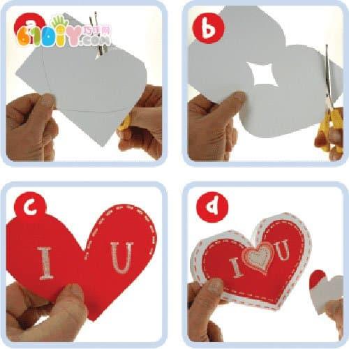 Handmade Valentine's Day card with love