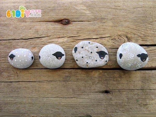 Stone lamb handmade work