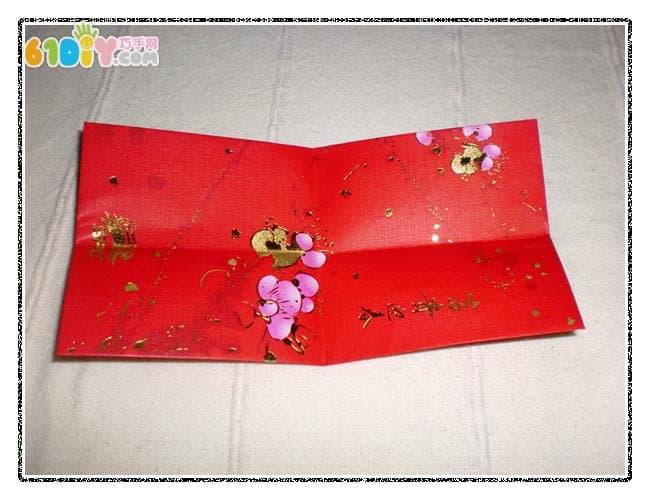 New Year DIY red envelope making process of lanterns