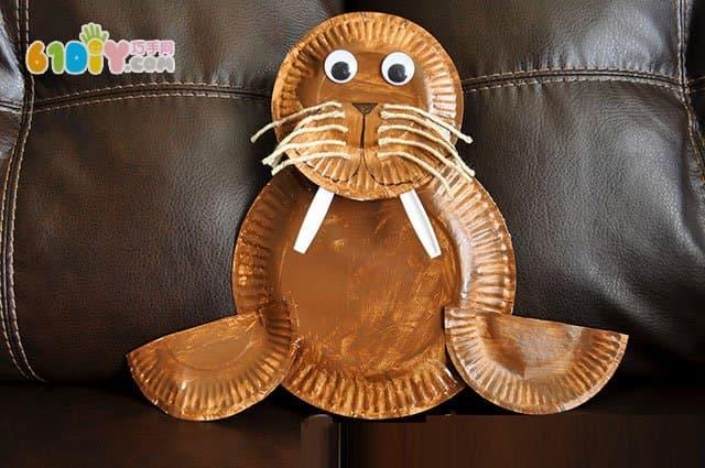 Paper tray handmade DIY walrus