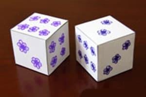 Paper dice DIY production