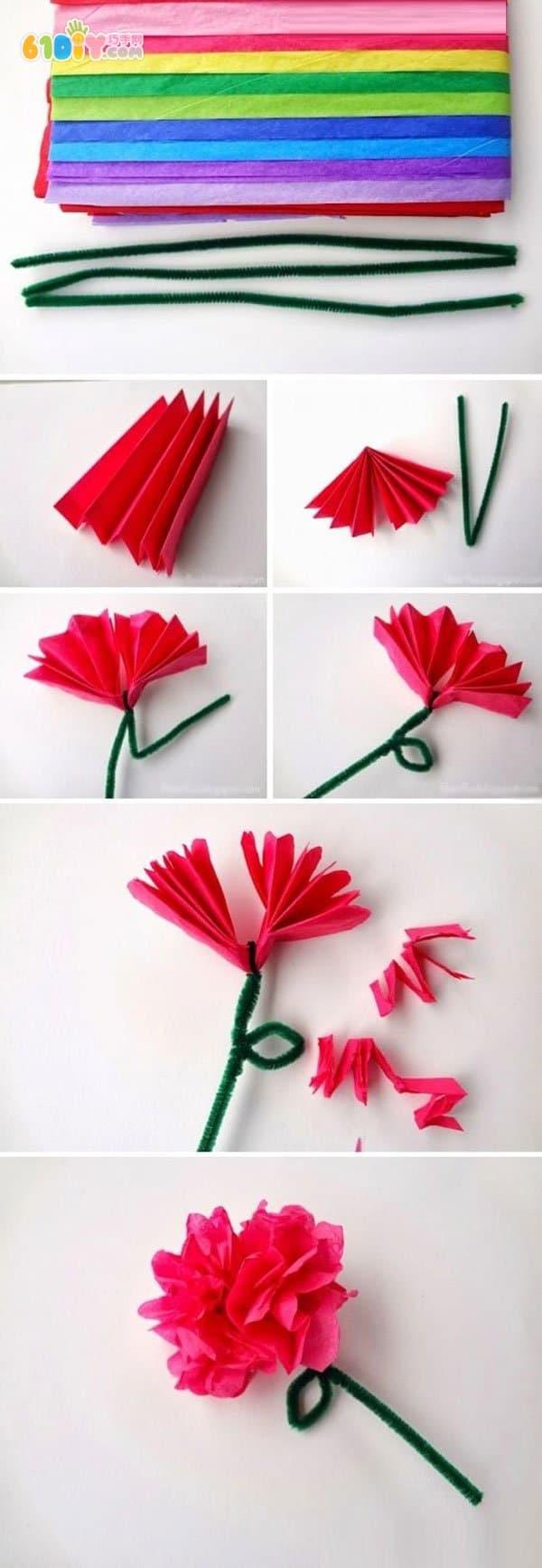 Women's Day handmade paper flower practice