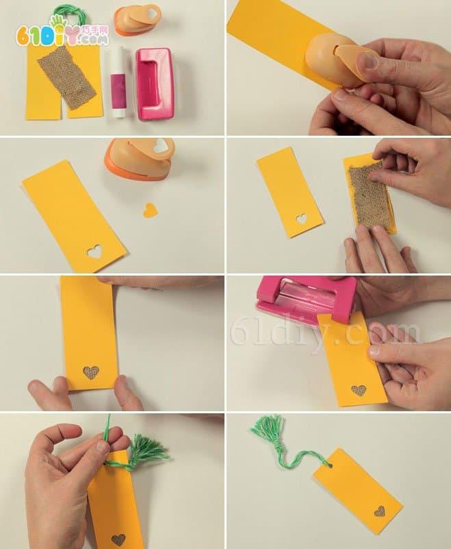 March 8 manual DIY love bookmark