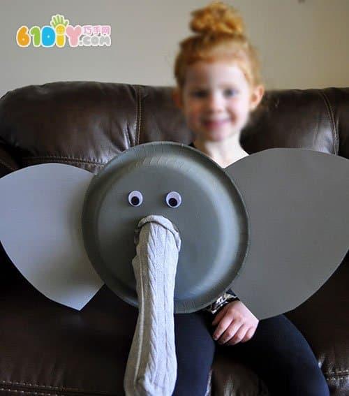 Tray animal handmade elephant puppet production
