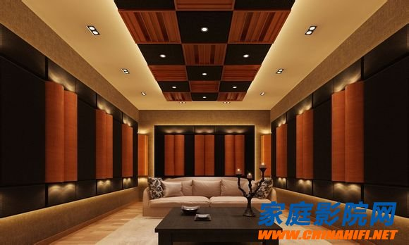 Audio-visual room decoration sound absorption, sound insulation materials and structure