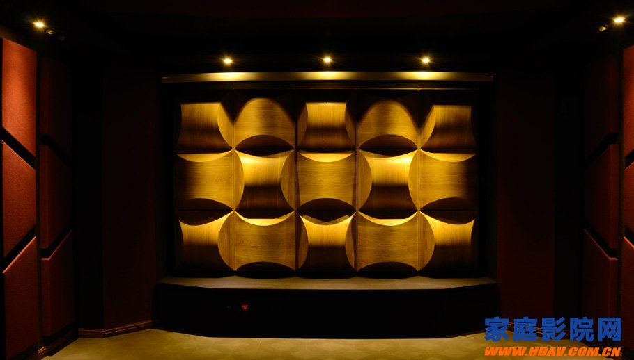 Is the sound absorption or diffusion of the first reflection zone in the home theater?