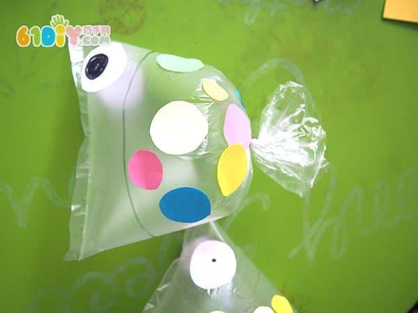 Plastic bag making cute fat fish