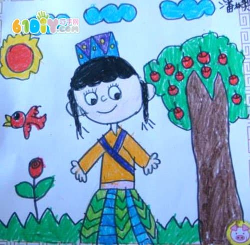 Minority children's paintings