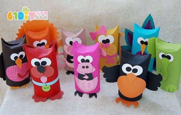 Cute roll paper animal handmade
