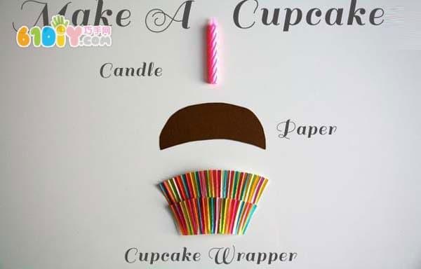 Homemade Candle Cake Birthday Card