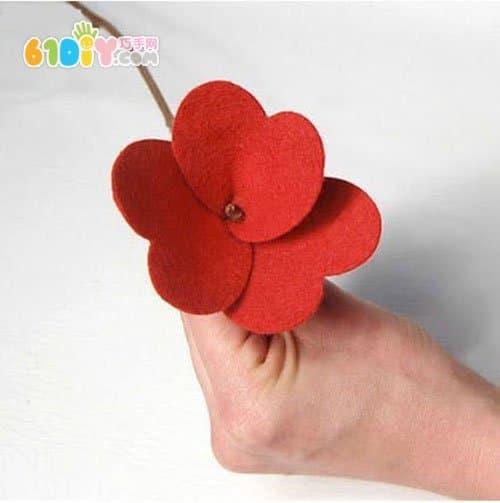 Teacher's Day making simple non-woven handmade flowers