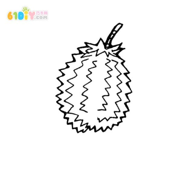 Durian stick figure picture