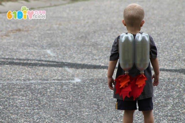 Children's toy handmade plastic bottle making spray paint backpack