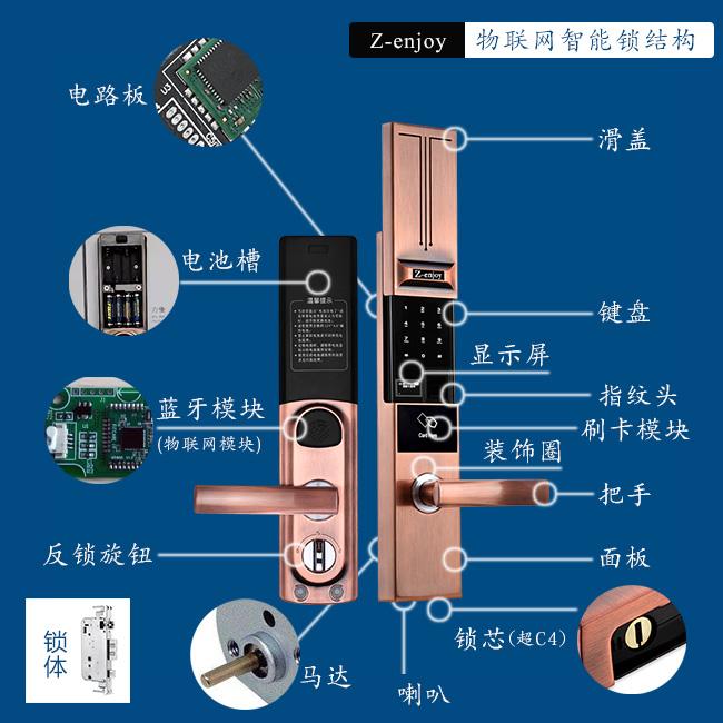 Z-enjoy smart lock structure